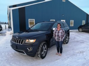Maria C with her Jeep Grand Cherokee Danwheels helped find